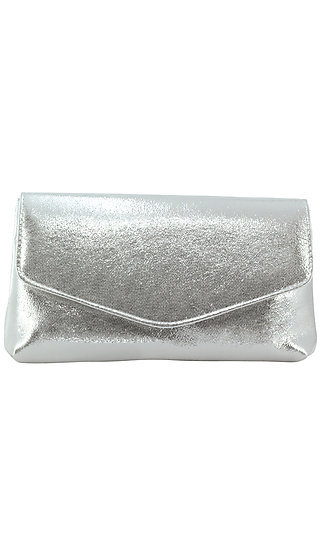 Silver Shimmer Clutch