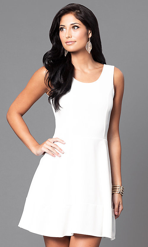 Image of short sleeveless scoop-neck day-to-night dress.  Style: CH-2399 Detail Image 1
