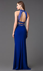 Image of Long High Neck Two Piece Dress FA-S7506 Style: FA-S7506 Back Image