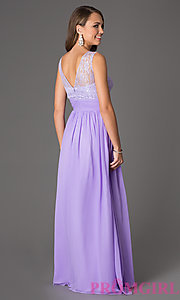 Image of Pastel Lace Gown for Prom Style: DQ-8769 Back Image