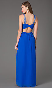 Image of sleeveless floor-length dress by Hailey Logan Style: HL-211s66190 Back Image