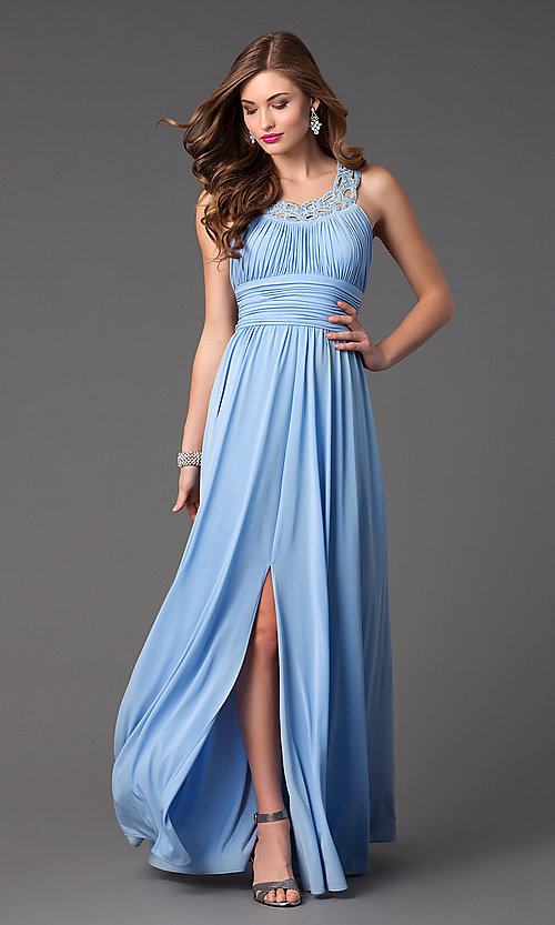 Floor Length Classic Formal Dress by Morgan