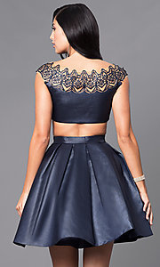 Image of cap-sleeve cocktail party dress by Sherri Hill. Style: SH-9756 Detail Image 3