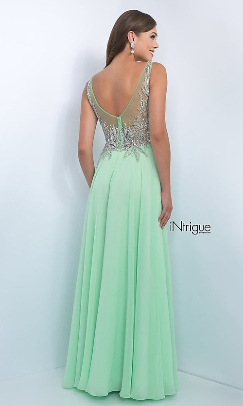 Mint Green Long Prom Dress from Intrigue