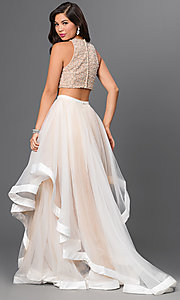 Image of two-piece dress with jewel embellished bodice Style: TI-DL300 Back Image