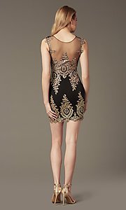 Image of Short Beaded Lace Sweetheart Prom Dress Style: CD-GL-G531 Back Image
