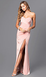 Image of strapless sweetheart long formal evening gown. Style: FA-7891 Front Image