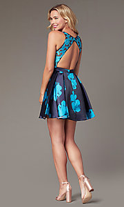 Image of short open-back floral-print homecoming dress Style: TI-GL-1625H2110 Detail Image 6