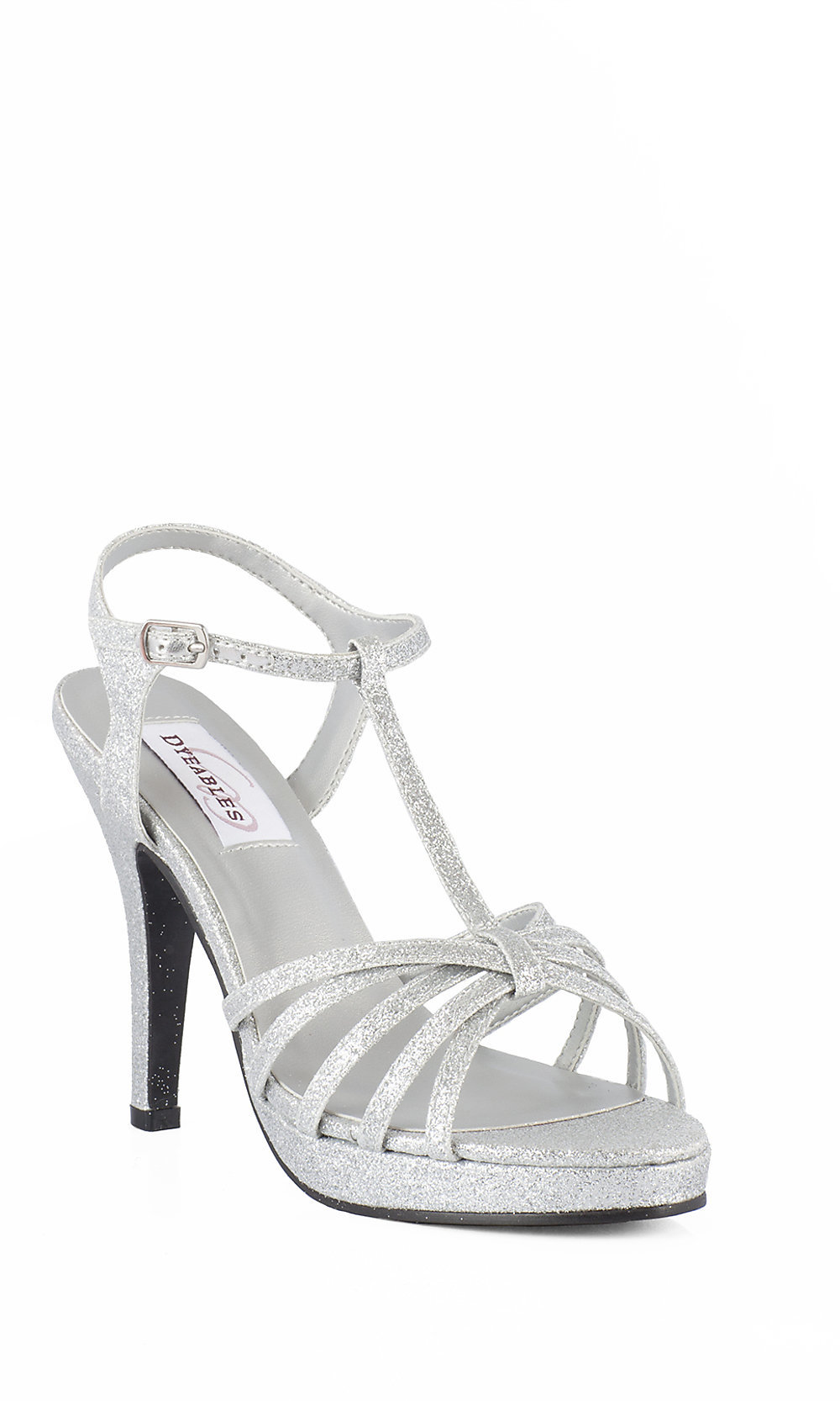 e3db75af416 Strappy Open Toe Silver Prom Shoes