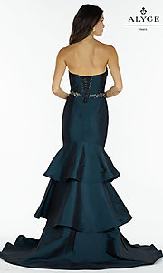 Image of long Alyce strapless mermaid prom dress. Style: AL-A6734 Back Image