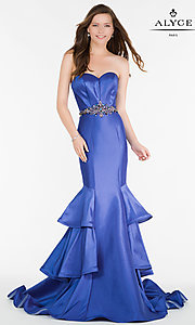 Image of long Alyce strapless mermaid prom dress. Style: AL-A6734 Front Image