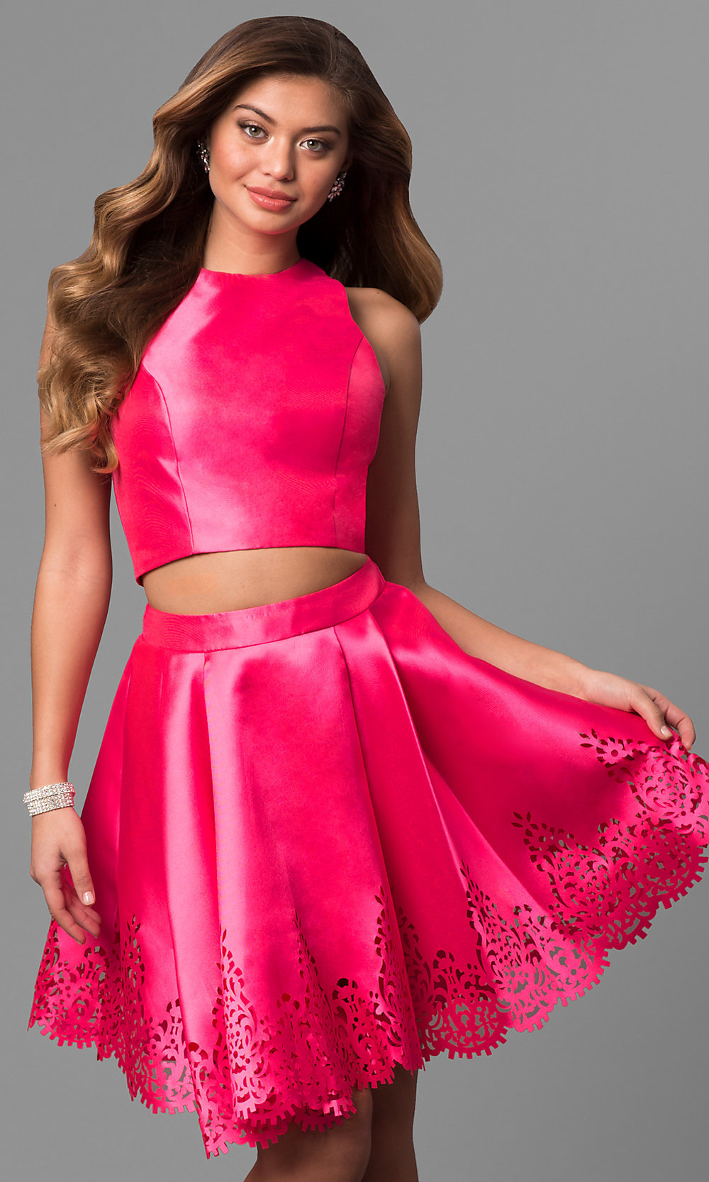 Short Two-Piece Prom Dress by Sherri Hill