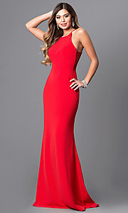 Image of Faviana floor-length prom dress with side straps.  Style: FA-S7913 Front Image