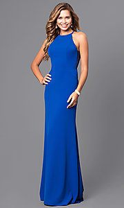 Image of Faviana floor-length prom dress with side straps.  Style: FA-S7913 Detail Image 1