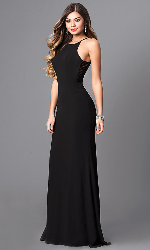 Image of Faviana floor-length prom dress with side straps.  Style: FA-S7913 Detail Image 2