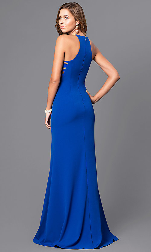 Image of Faviana floor-length prom dress with side straps.  Style: FA-S7913 Back Image