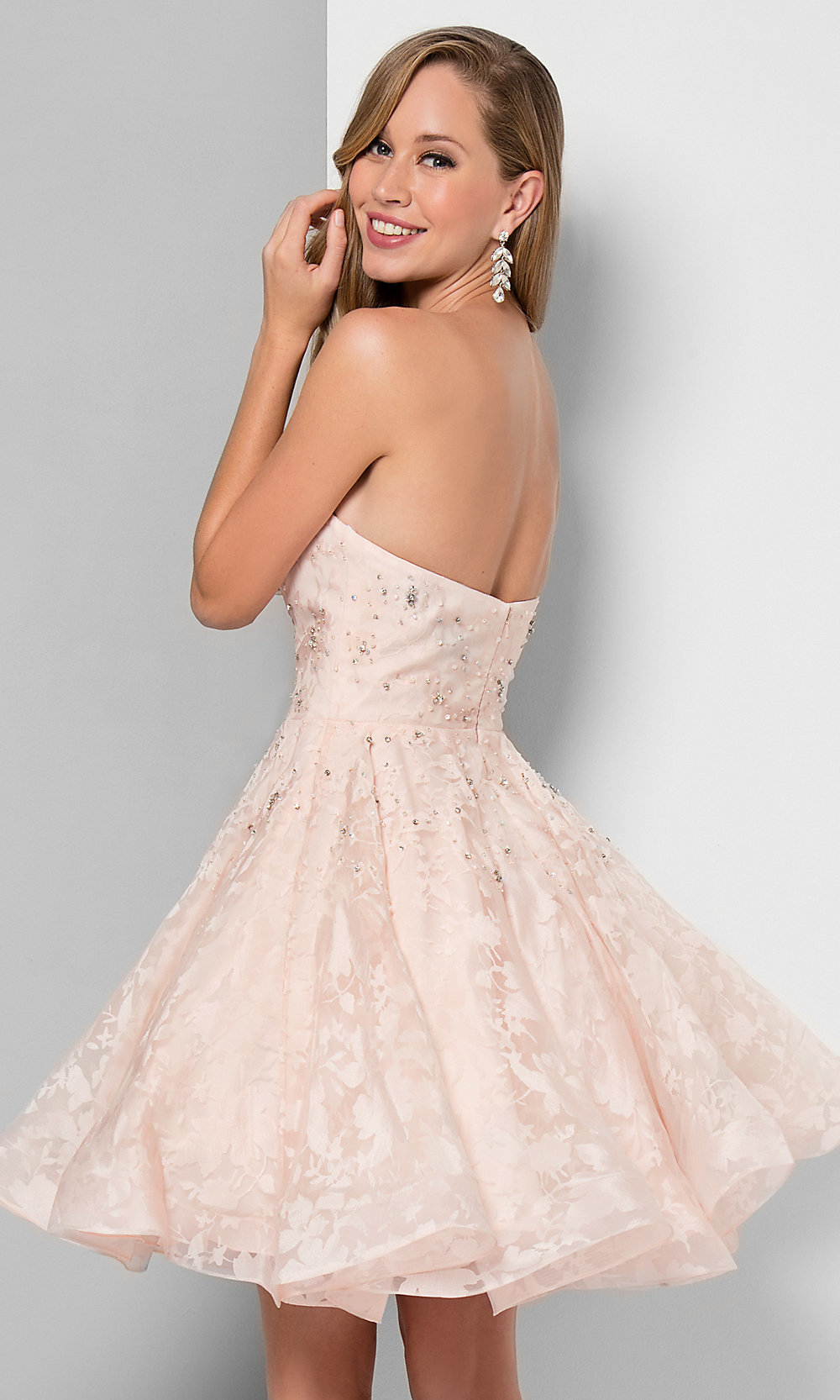Terani Couture Crystal Embellished Strapless Mermaid Prom