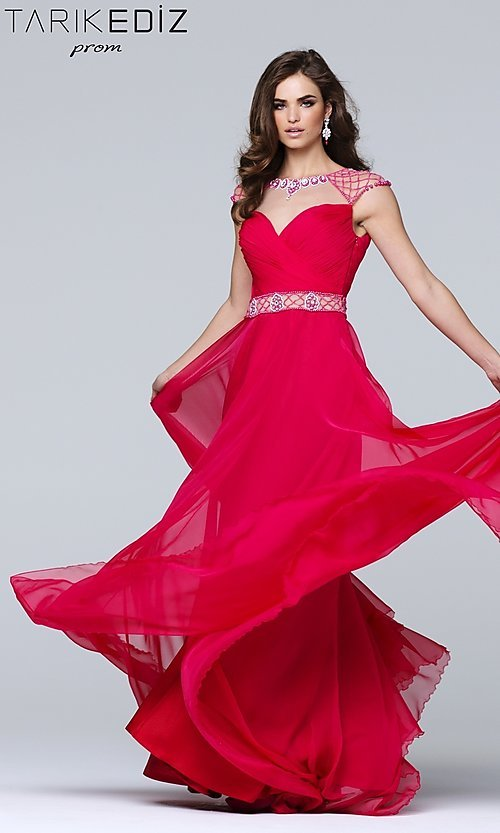 Long Chiffon Prom Dress with a Sheer Back