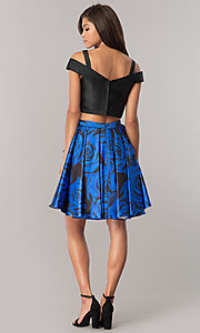 Image of two-piece junior-size homecoming dress with pockets. Style: DJ-A6110 Detail Image 2