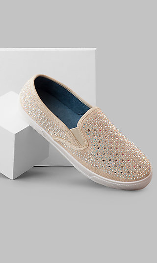 Nude Peyton Prom Slip-On Sneakers