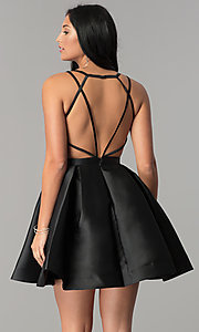 Image of short JVN by Jovani open-back homecoming dress. Style: JO-JVN-JVN53360 Back Image