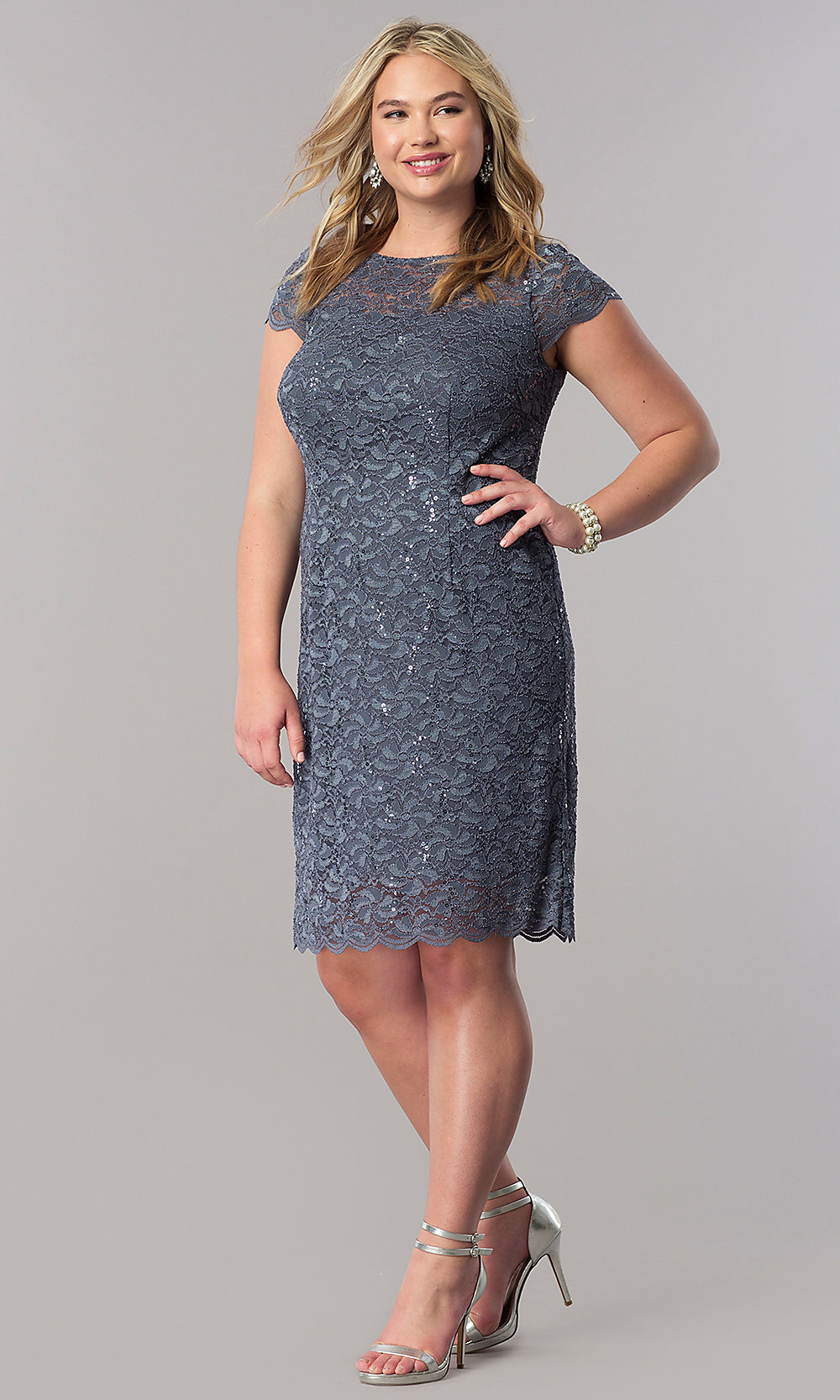 Lace Plus-Size Mother-of-the-Bride Dress - PromGirl