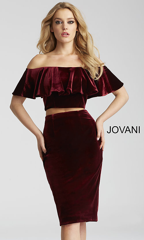 Knee-Length Two-Piece Homecoming Dress by Jovani