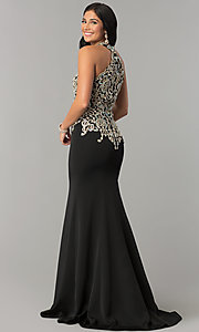 Image of JVNX by Jovani embellished-bodice long prom dress. Style: JO-JVNX60301 Back Image
