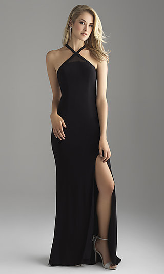 Long Racerback Jersey Madison James Prom Dress
