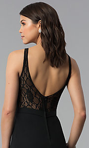 Image of long black bridesmaid dress by Madison James. Style: NM-18-578 Detail Image 2