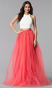 Image of high-neck two-piece Harper and Lemon prom dress. Style: AL-HL-250 Front Image