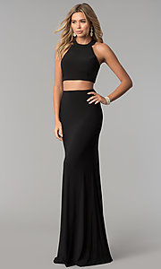 Image of two-piece long prom dress by Harper and Lemon. Style: AL-HL-253 Detail Image 1
