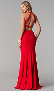 Image of two-piece long prom dress by Harper and Lemon. Style: AL-HL-253 Back Image