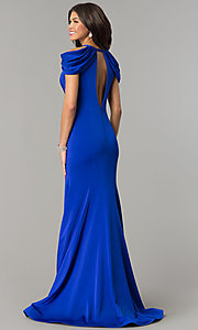Image of cold-shoulder long prom dress by Dave and Johnny. Style: DJ-A5907 Back Image