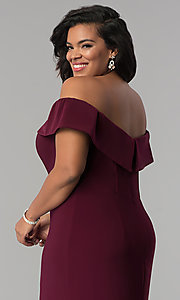 Image of long off-the-shoulder plus-size Faviana prom dress. Style: FA-9441 Detail Image 2