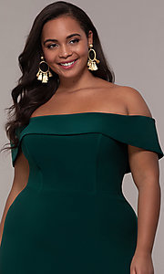 Image of long off-the-shoulder plus-size Faviana prom dress. Style: FA-9441 Detail Image 8
