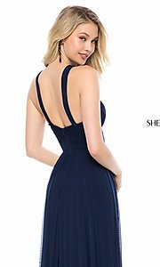 Image of high-neck Sherri Hill long prom dress. Style: SH-51903 Detail Image 2