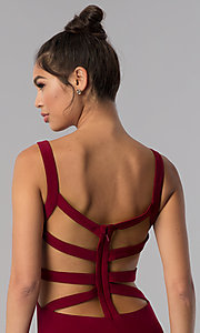 Image of short caged-open-back homecoming dress by Alyce. Style: AL-4003 Detail Image 1
