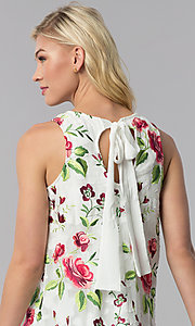 Image of embroidered short shift casual party dress. Style: ECI-518935-8250NL Detail Image 2