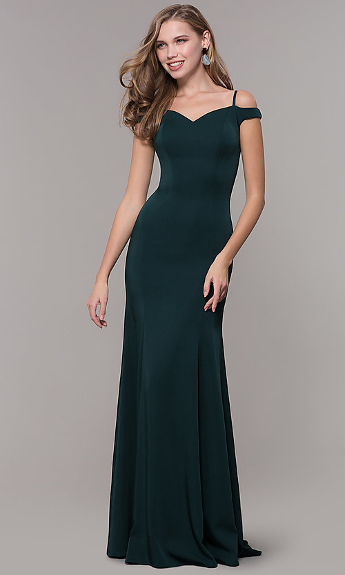 Image of off-the-shoulder sweetheart evening dress. Style: CD-2017 Detail Image 3