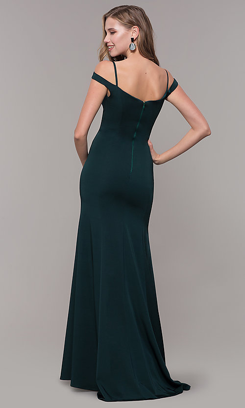 Image of off-the-shoulder sweetheart evening dress. Style: CD-2017 Detail Image 4