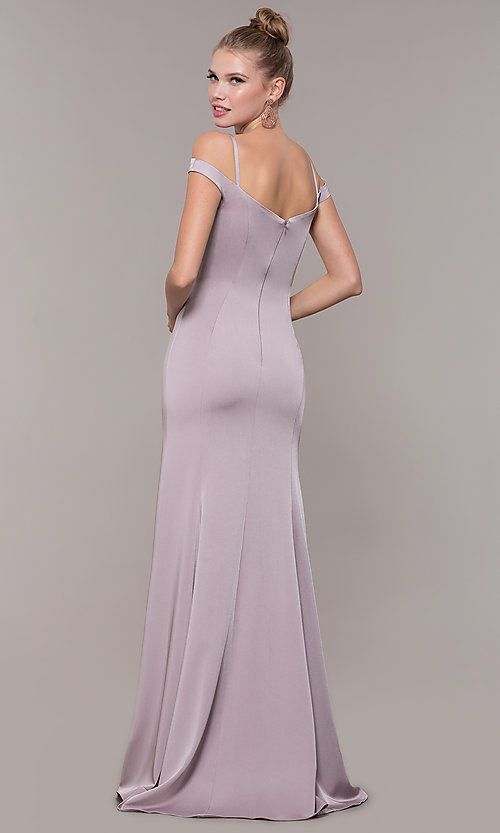 Image of off-the-shoulder sweetheart evening dress. Style: CD-2017 Back Image