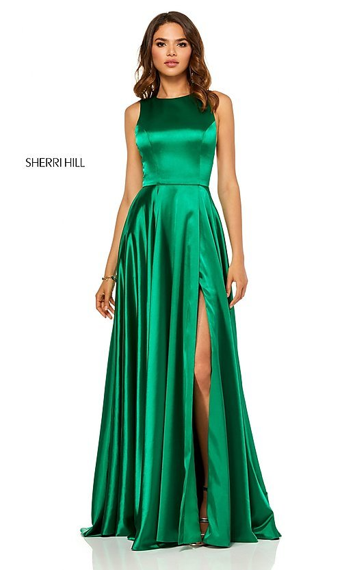 Long A-Line Designer Prom Dress by Sherri