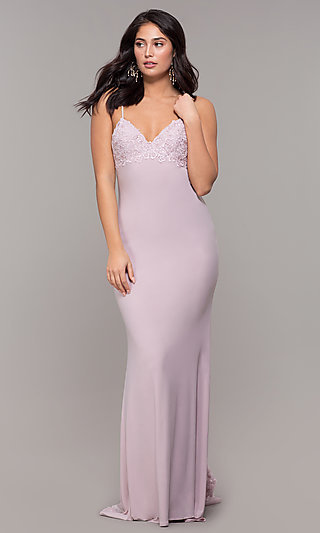 Long Open-Back Designer Prom Dress by Zoey Grey