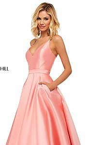 Image of long Sherri Hill designer prom dress with pockets. Style: SH-52821 Detail Image 5