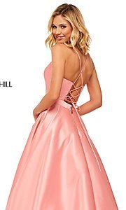 Image of long Sherri Hill designer prom dress with pockets. Style: SH-52821 Detail Image 6