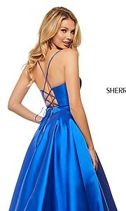 Image of long Sherri Hill designer prom dress with pockets. Style: SH-52821 Detail Image 2