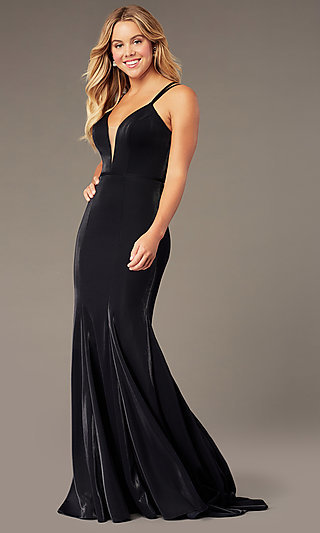Long Mermaid-Style V-Neck JVNX by Jovani Prom Dress