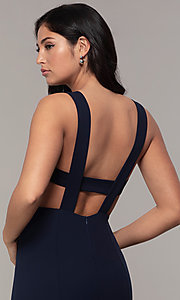 Image of long mermaid v-neck prom dress by Simply. Style: MCR-SD-2650 Detail Image 2