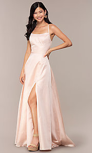 Image of long backless prom dress by Dave and Johnny. Style: DJ-A7956 Detail Image 3